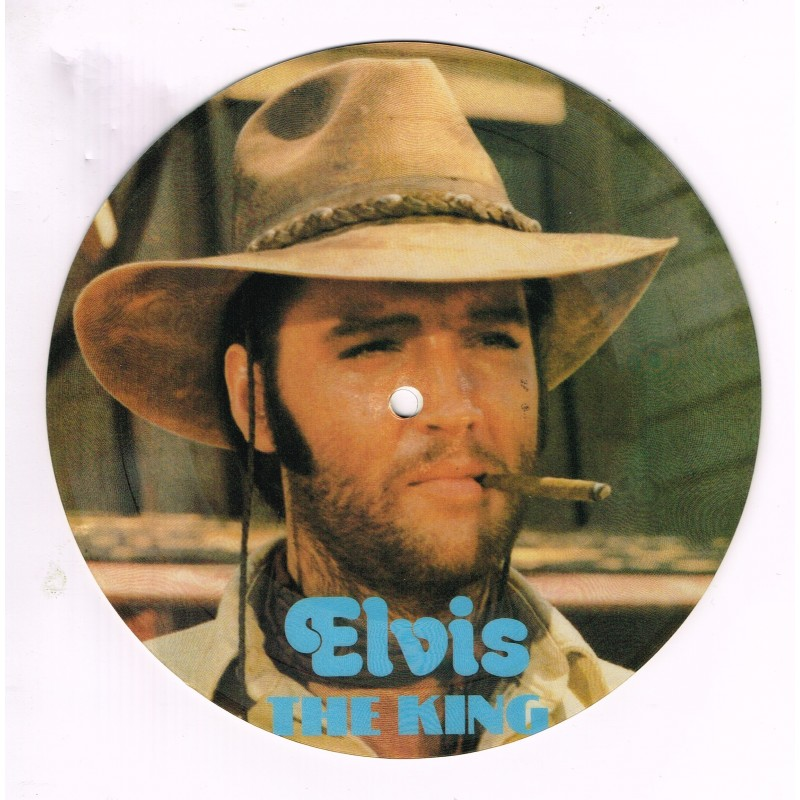 PICTURE DISQUE 45 TOURS ELVIS PRESLEY - THE KING - TROUBLE