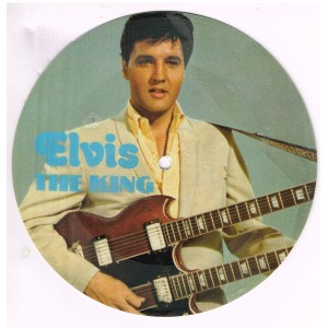 PICTURE DISQUE 45 TOURS  ELVIS PRESLEY - THE KING - RIP IT UP