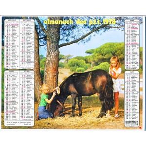 CALENDRIER ALMANACH DES PTT 1971 - ENFANTS ET ANIMAUX