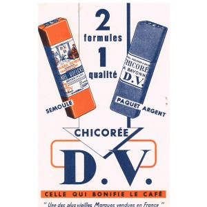 BUVARD CHICOREE D.V. - 2 FORMULES 1 QUALITE