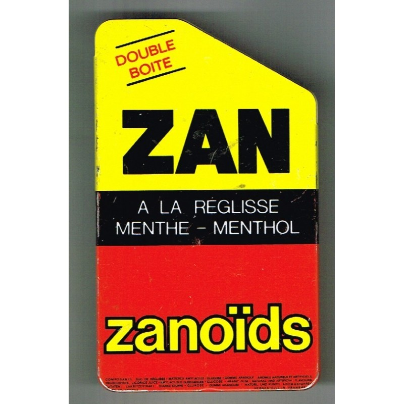 DOUBLE BOITE METAL ANCIENNE ZAN - RICQLES ZAN UZES-MOUSSAC