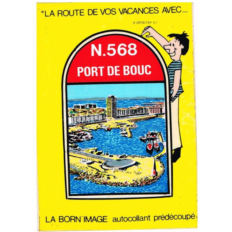 CARTE POSTALE AUTOCOLLANT PREDECOUPE - PORT DE BOUC (13) - N. 568