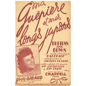 PARTITION DE YVETTE GIRAUD - MA GUÊPIERE ET MES LONGS JUPONS