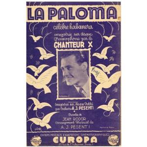 PARTITION LA PALOMA - CELEBRE HABANERA D'YRADIER