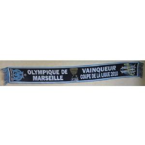 ECHARPE OLYMPIQUE DE MARSEILLE - VAINQUEUR DE LA LIGUE 2010