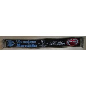 ECHARPE OLYMPIQUE DE MARSEILLE - A.C. MILAN - CHAMPIONS LEAGUE 2009-2010