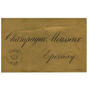 ETIQUETTE CHAMPAGNE MOUSSEUX EPERNAY - CARTE D'OR