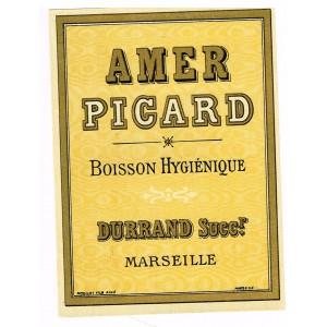 ETIQUETTE D'AMER PICARD - BOISSON HYGIENIQUE