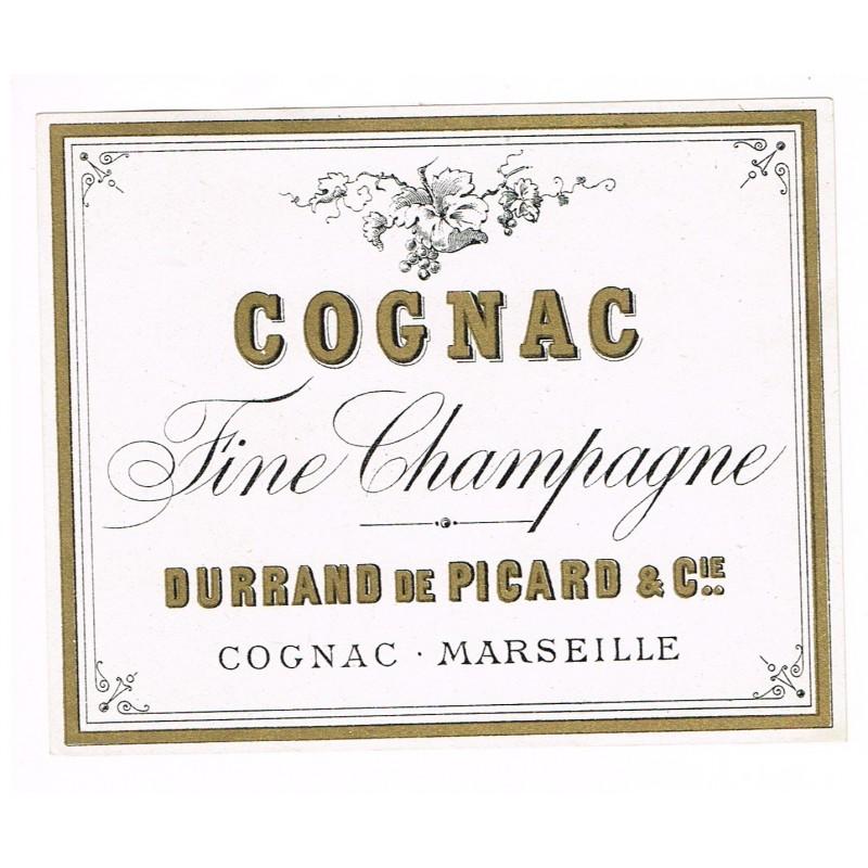 ETIQUETTE COGNAC FINE CHAMPAGNE - COGNAC MARSEILLE