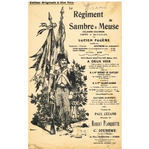 PARTITION DE LE REGIMENT DE SAMBRE ET MEUSE
