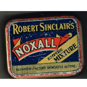 "BOITE METAL VIDE DE TABAC ""ROBERT SINCLAIRS NOXALL EMPIRE MIXTURE"""