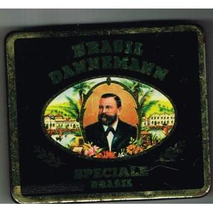 BOITE ANCIENNE METAL VIDE DE 20 CIGARES BRASIL DANNEMANN - SPECIALE BRASIL
