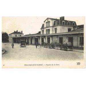CP51 CHALONS-SUR-MARNE - FACADE DE LA GARE