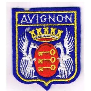 ECUSSON BRODE AVIGNON (84) -GRANDES ARMOIRIES
