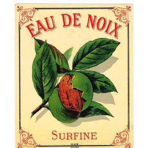 ETIQUETTE D'EAU DE NOIX SURFINE