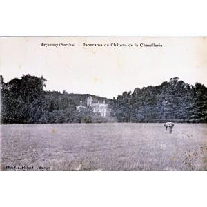 cp72-arconnay-panorama-du-chateau-de-la-chevalerie