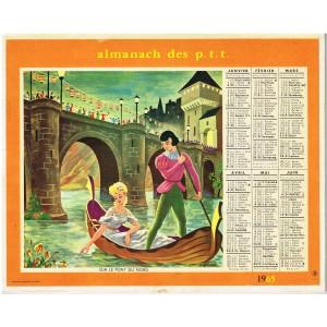 CALENDRIER ALMANACH DES PTT 1965 - CHANSONS ENFANTINES
