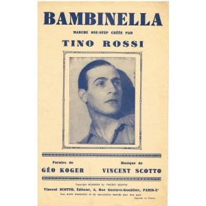 PARTITION DE TINO ROSSI -BAMBINELLA