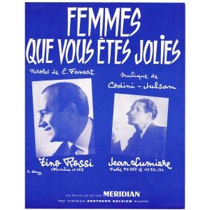 PARTITION DE TINO TOSSI - FEMMES QUE VOUS ÊTES JOLIES