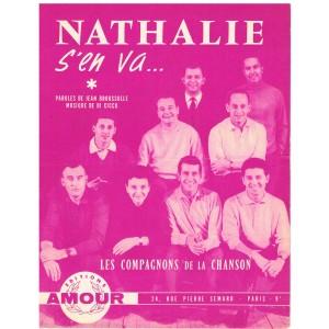 PARTITION DES COMPAGNONS DE LA CHANSON - NATHALIE S'EN VA...