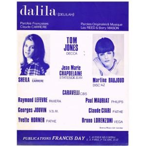 PARTITION DE SHEILA - DALILA (DELILAH)