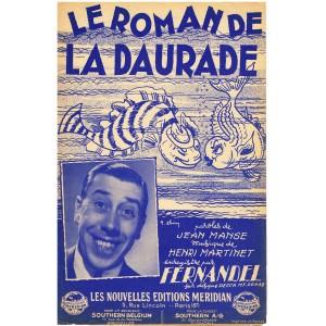 PARTITION DE FERNANDEL - LE ROMAN DE LA DAURADE
