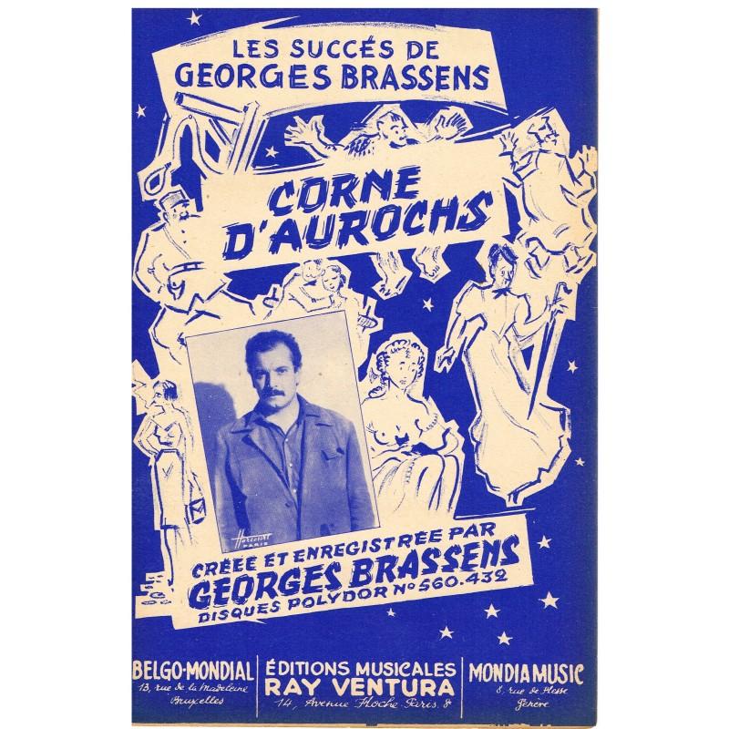 PARTITION de GEORGES BRASSENS - CORNE D'AUROCHS