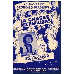 PARTITION de GEORGES BRASSENS - LA CHASSE AUX PAPILLONS