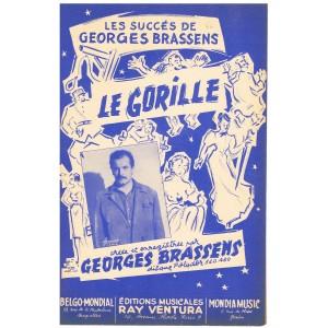 PARTITION de GEORGES BRASSENS - LE GORILLE