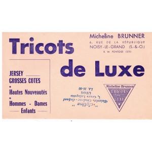 BUVARD TRICOTS DE LUXE MICHELINE BRUNNER