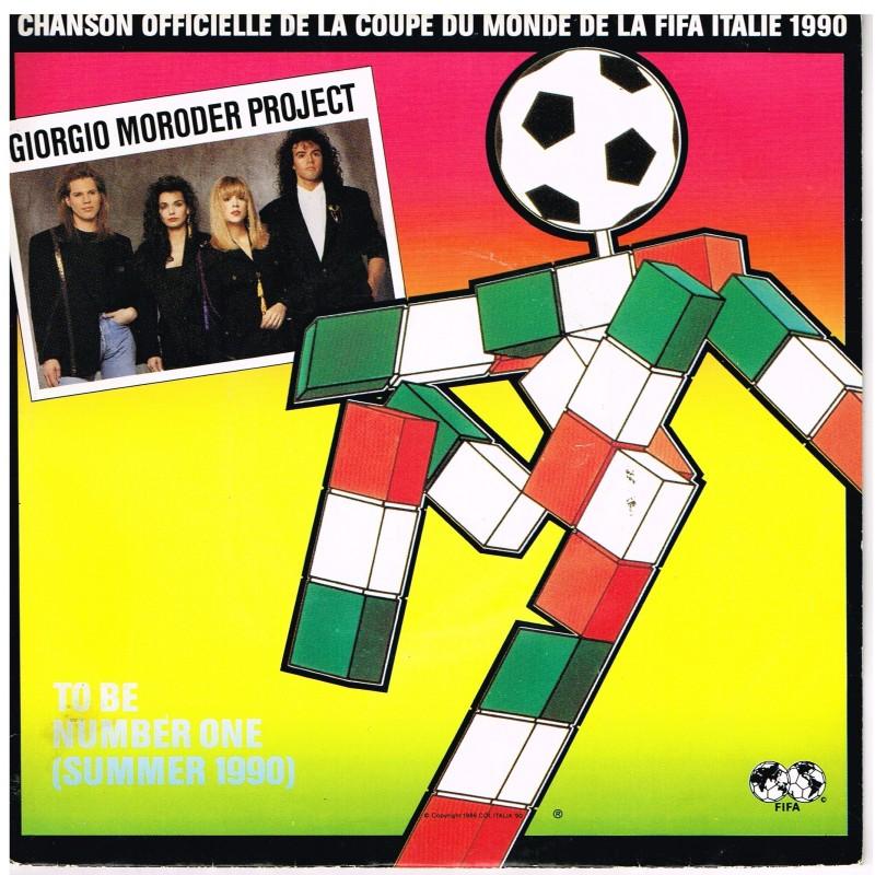 DISQUE 45 TOURS 17 cm  CHANSON OFFICIELLE DE LA COUPE DU MONDE DE LA FIFA ITALIE 1990