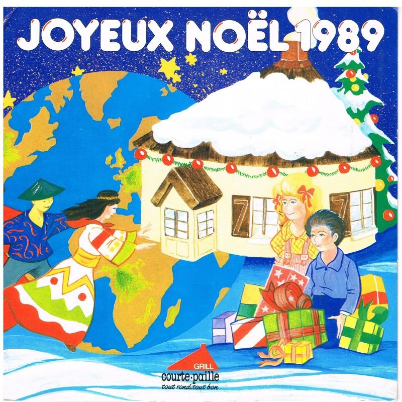 DISQUE 33 TOURS 17 CM JOYEUX NOËL 1989 - FLEXI-DISC COURTE-PAILLE