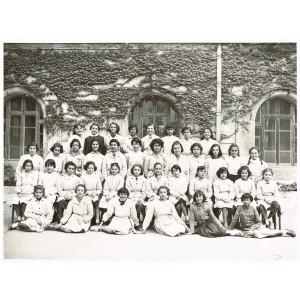 PHOTO DE CLASSE DE 1954 - CLASSE DE JEUNES FILLES : 6ème