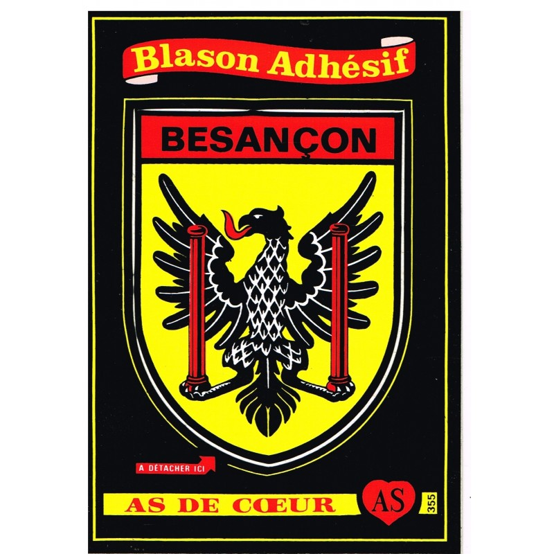 CARTE POSTALE BLASON ADHESIF - BESANCON