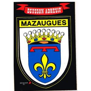 CARTE POSTALE ECUSSON ADHESIF - MAZAUGUES (83)