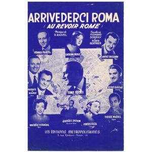 PARTITION DE TINO ROSSI - ARRIVEDERCI ROMA