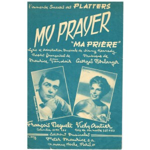 "PARTITION DE FRANCOIS DEGUELT - MY PRAYER - ""MA PRIERE"""