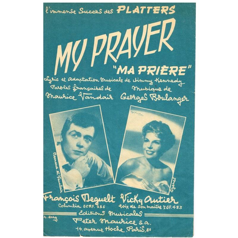 """PARTITION DE FRANCOIS DEGUELT - MY PRAYER - """"MA PRIERE"""""""