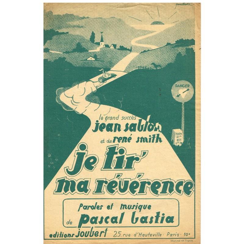 PARTITION DE JEAN SABLON - JE TIR' MA REVERENCE