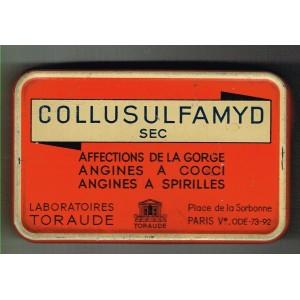 BOITE ANCIENNE EN METAL COLLUSULFAMYD SEC