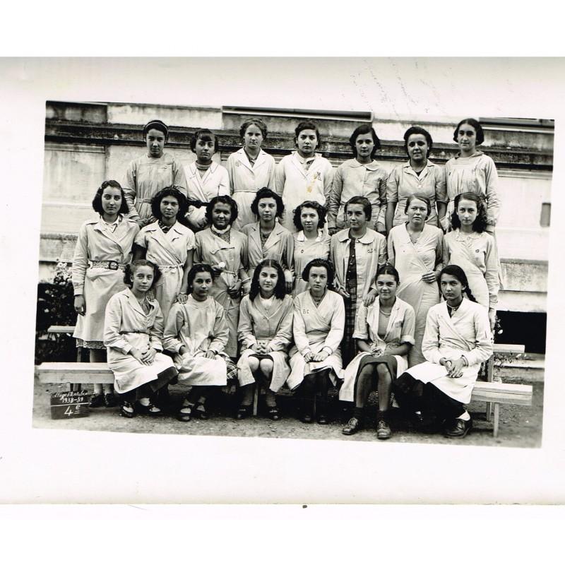 PHOTO DE CLASSE DE 4ème - 1938-39 COLLEGED'ANTIBES
