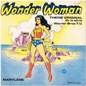 DISQUE 45 TOURS WONDER WOMAN ET SUPERMAN