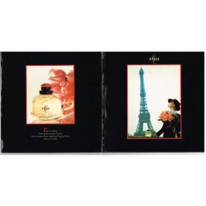 DISQUE 45 TOURS PUBLICITAIRE ROSE : PARIS JE T'AIME - YVES SAINT LAURENT