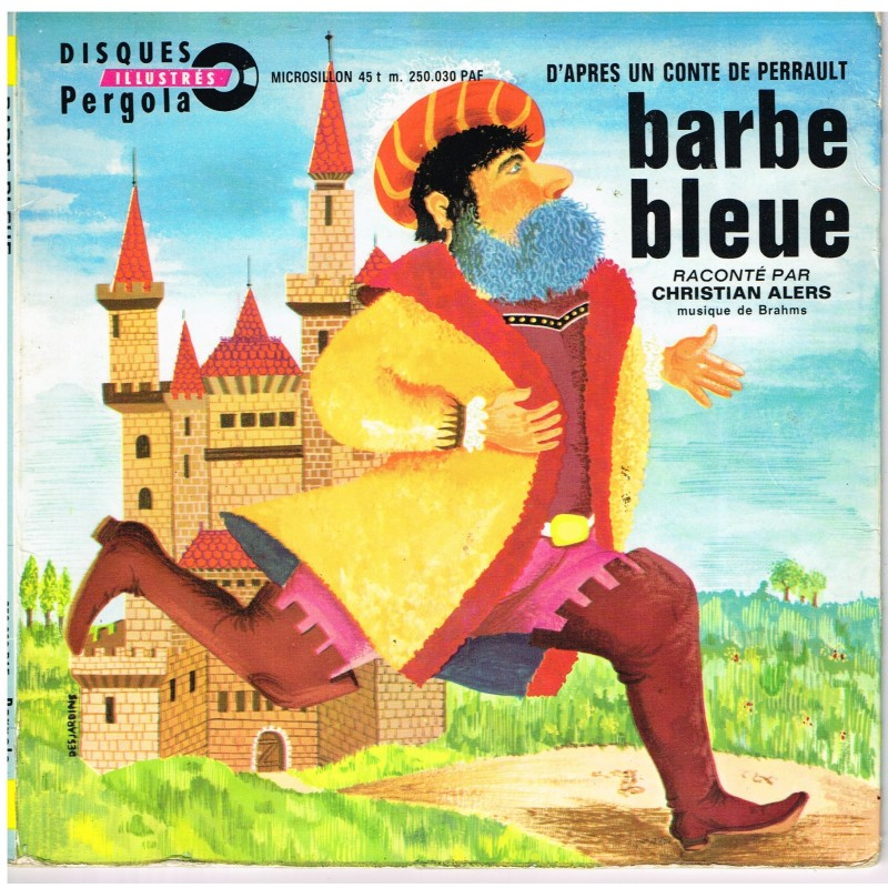 DISQUE 45 TOURS - BARBE BLEUE - CHARLES PERRAULT