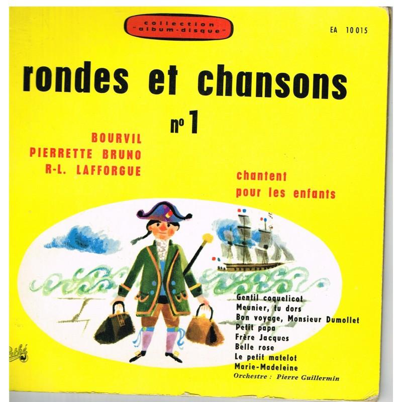 LIVRE-DISQUE 45 TOURS RONDES ET CHANSONS N° 1