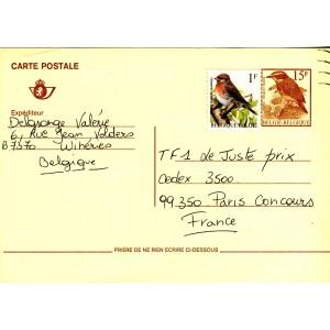 entier-postal-belge-avec-oiseaux