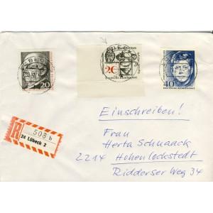 chouette-pour-timbre-du-poete-mathias-claudius-sur-lettre-et-timbres-de-kennedy-et-bismarck