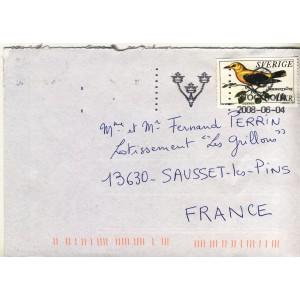 loriot-d-europe-timbre-de-suede-sur-lettre