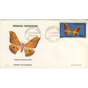 papillon-aurivillius-aratus-west-timbre-et-obliteration-1-er-jour-de-republique-centrafricaine