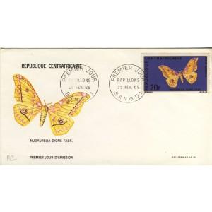 papillon-nudaurelia-dione-fabr-timbre-et-obliteration-1er-jour-de-republique-centrafricaine